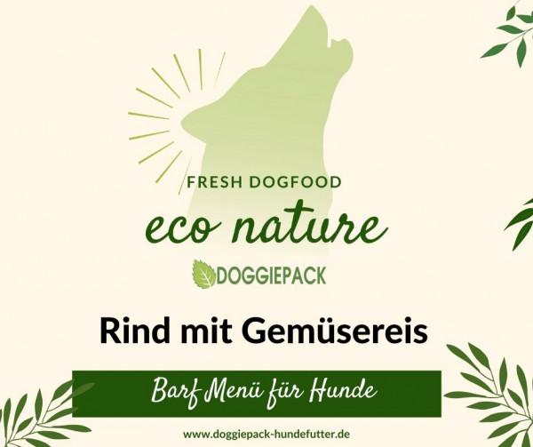 21 x Rind mit Gemüsereis 400g- eco nature Barf Paket