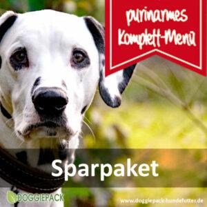 Sparpaket 25 x 400g purinarmes Hundefutter – BARF Menüs