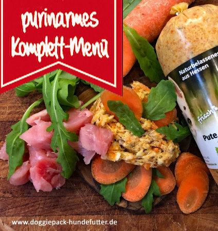 Purinarm Pute Löwenzahn-Karotte – Fertigbarf-Menü