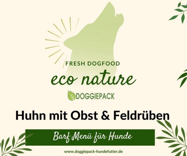 Huhn mit Obst & Feldrüben – eco nature BARF Menü