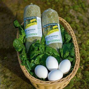 Komplett Barf Menue Huhn mit Spinat und Ei